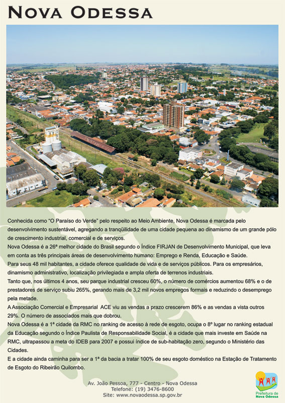 Fonte: www.novaodessa.sp.gov.br